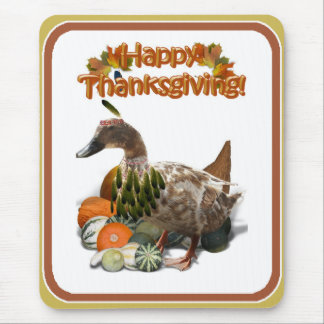 Thanksgiving Indian Girl Duck Mouse Pad