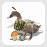 Thanksgiving Indian Girl Duck Stickers