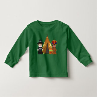 Thanksgiving Indian Pilgrim unisex toddler t-shirt