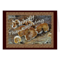 Thanksgiving Inside Out Mushrooms Items Card
