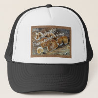 Thanksgiving Inside Out Mushrooms Items Trucker Hat