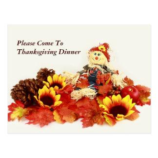 Thanksgiving Invitaion Postcard