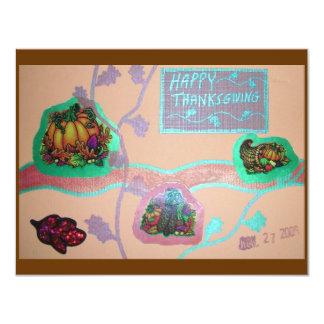 "Thanksgiving Invitation 4.25"" X 5.5"" Invitation Card"