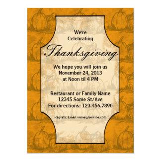 Thanksgiving 5.5x7.5 Paper Invitation Card