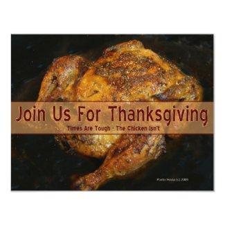 Thanksgiving Invitation (Humorous 1 - Personalize)