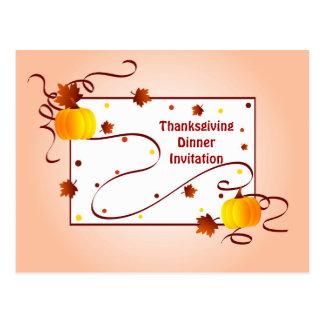 Thanksgiving Invitation - Postcard
