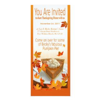 Thanksgiving Invitation Pumpkin Pie