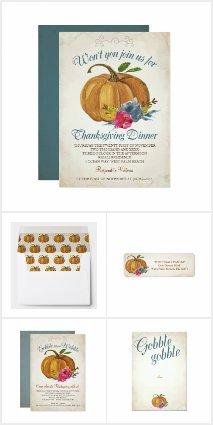 Thanksgiving Invitation Sets