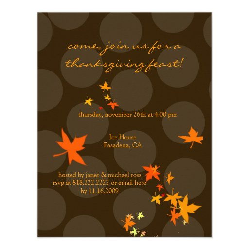 Thanksgiving invitations, maple leaves