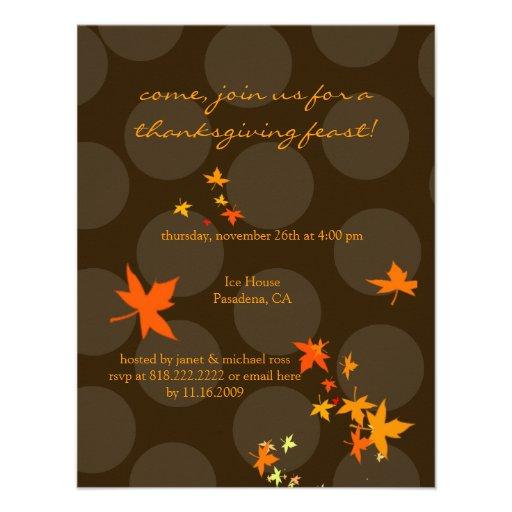 Thanksgiving invitations, maple leaves