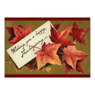 Thanksgiving Invite Vintage Food Hi