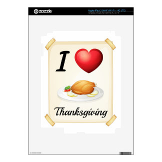 thanksgiving iPad 3 decal