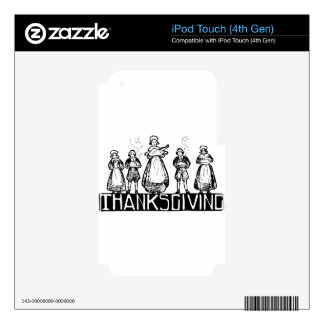 thanksgiving iPod touch 4G decals