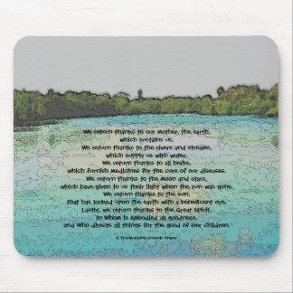 Thanksgiving Iroquois Prayer Mouse Pad