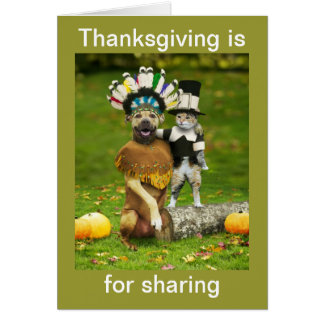 Thanksgiving Is For Sharing Card