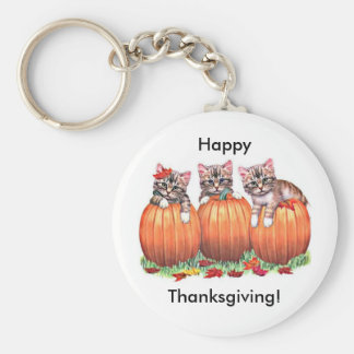 Thanksgiving is the Cat's Meow Keychains