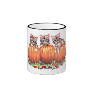 Thanksgiving is the Cat's Meow Ringer Coffee Mug