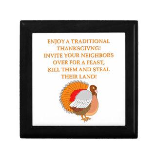 thanksgiving joke gift box