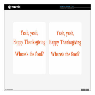 Thanksgiving Kindle Fire Skin