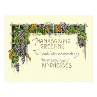Thanksgiving Kindness Postcard