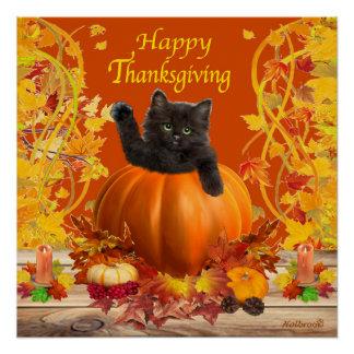 Thanksgiving Kitty Poster