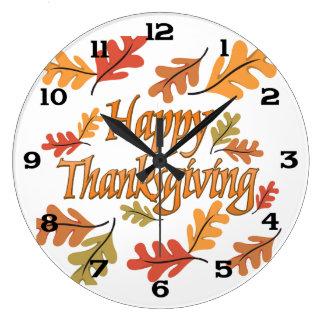 Thanksgiving Large Clock