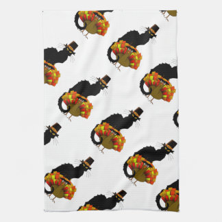 Thanksgiving Le Chat Noir With Turkey Pilgrim Towels