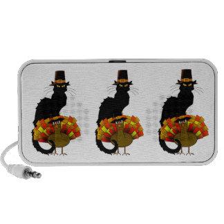 Thanksgiving Le Chat Noir With Turkey Pilgrim Travel Speaker