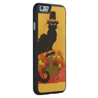 Thanksgiving Le Chat Noir With Turkey Pilgrim Carved® Maple iPhone 6 Case