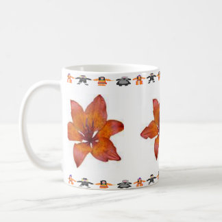 Thanksgiving Leaf Pilgrim Indian Trim Mug