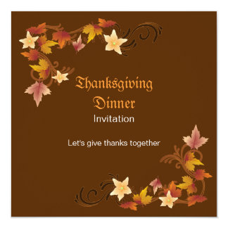 Thanksgiving Leaves Classic Fall Theme Card