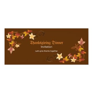 Thanksgiving Leaves Classic Fall Theme Custom Invite