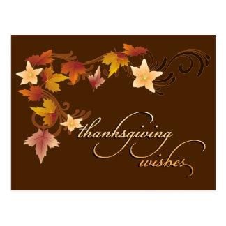 Thanksgiving Leaves Classic Fall Theme Postcard