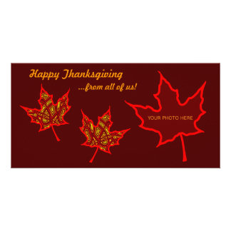 Thanksgiving Leaves Picture Card