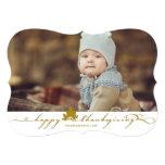 "Thanksgiving Leaves Simple Flourish Photo Card 5"" X 7"" Invitation Card"