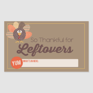 Thanksgiving Leftover Label Rectangle Stickers
