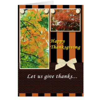 Thanksgiving Let Us Give Thanks Card