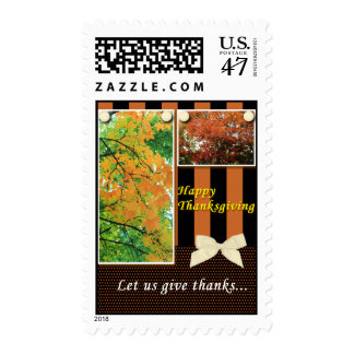 Thanksgiving Let Us Give Thanks Postage