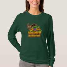 THANKSGIVING LONG SLEEVE TEE SHIRTS WOMENS