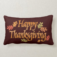 Thanksgiving Lumbar Pillow