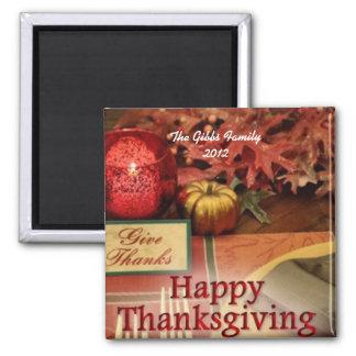 Thanksgiving Magnet 2012 (Custom Family Name)