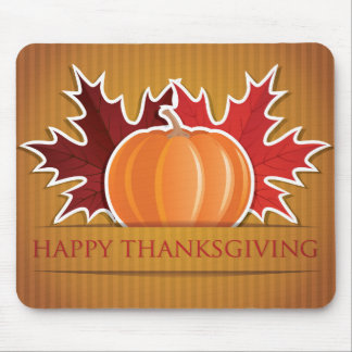 Thanksgiving maple and pumpkin mouse pad