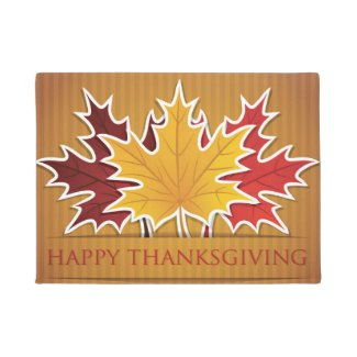 Thanksgiving maple leaf doormat