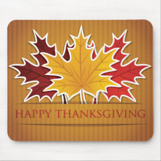 Thanksgiving maple leaf mouse pad