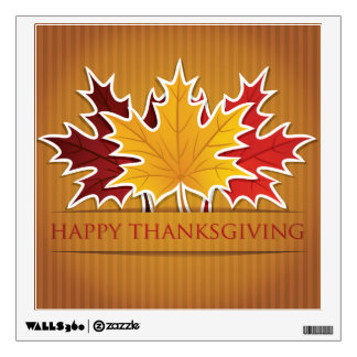 Thanksgiving maple leaf wall decal