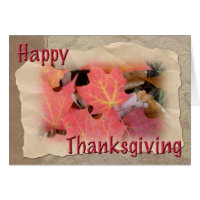 Thanksgiving Maple Leaves Coordinating Items Card