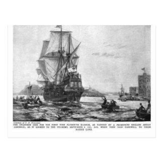 Thanksgiving Mayflower Ship ( Postcard )