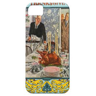 Thanksgiving meal, vintage design iPhone 5 case