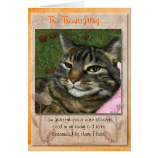 Thanksgiving message from your cat. card
