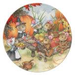 Thanksgiving Mice - Cute Plate